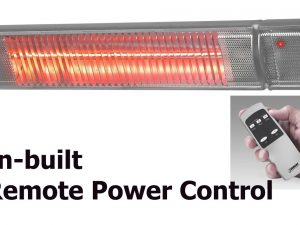 2200W Infra-red heater with Remote Power Control
