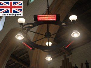 Chandelier Heater 4.5kW 'Gaddesby' Design