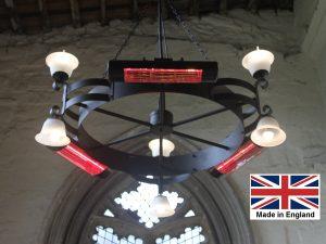 Chandelier Heater 6kW 'Gaddesby' Design - Directional
