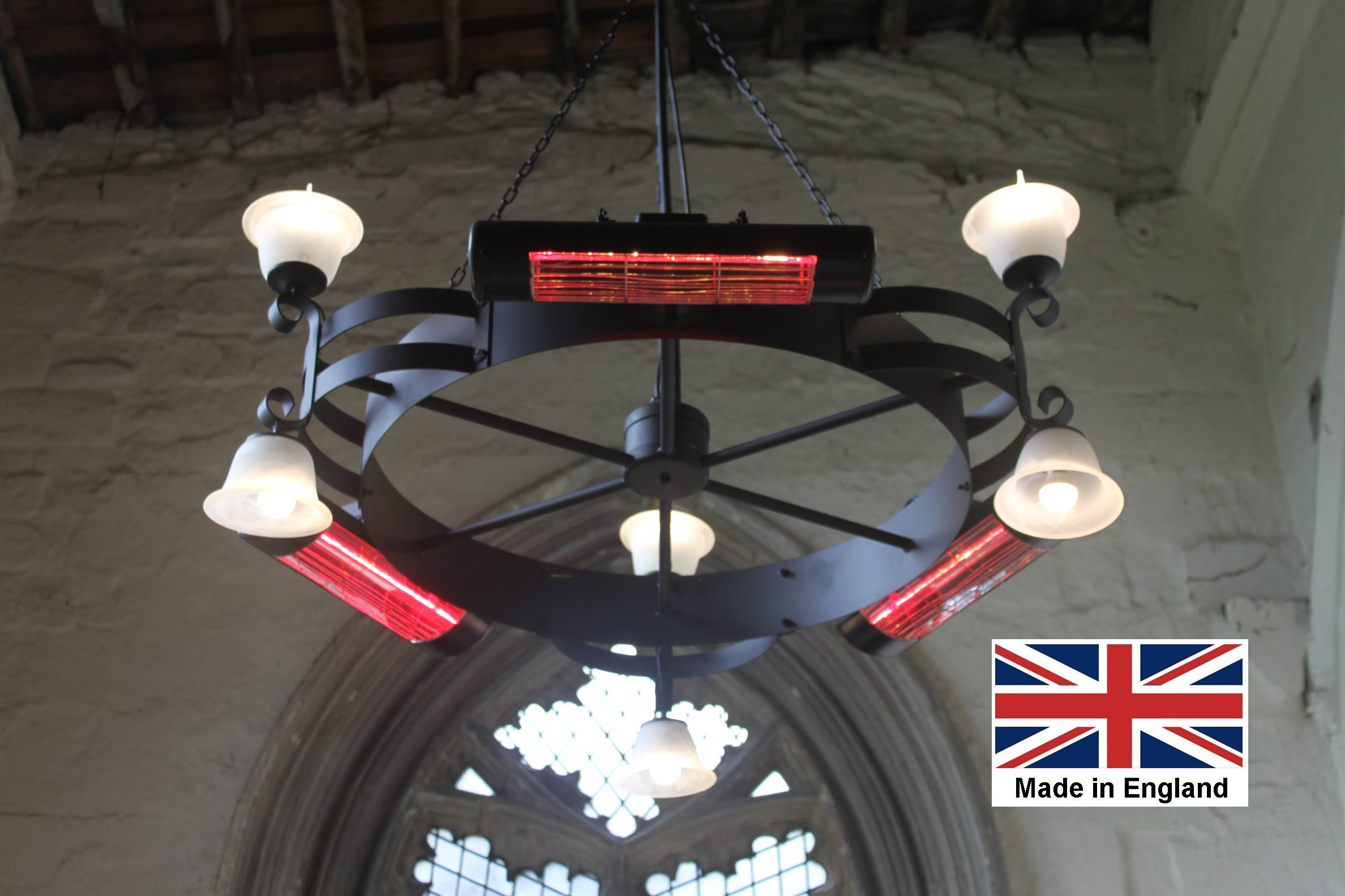 Chandelier Heater 6kW 'Gaddesby' Design - Directional