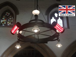 Chandelier Heater 6kW 'Gaddesby' Design