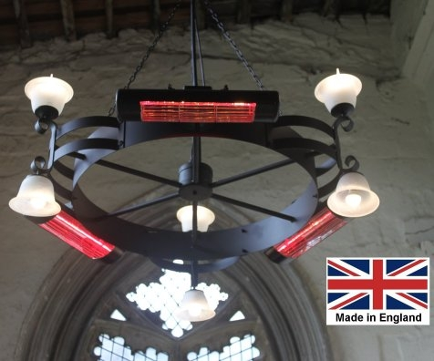 Chandeliers with Infra-red Heat and LED Lights