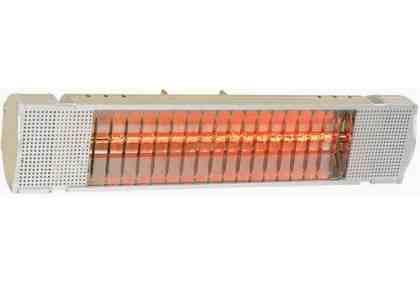 1.5kW Heatmaster Elite Electric Infrared Halogen Patio Heater - Gold Lamp