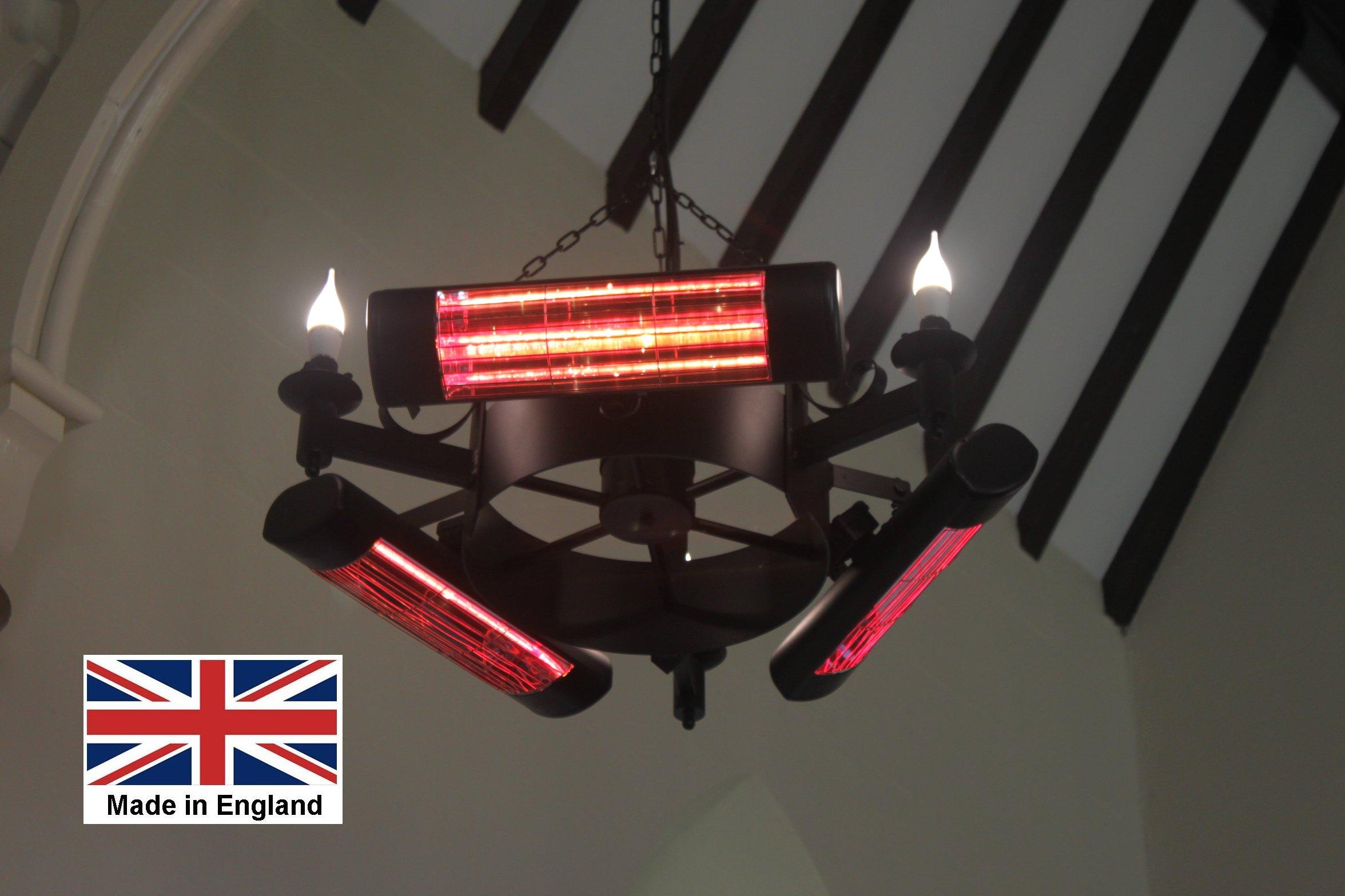 Chandelier Heater 6kW 'Amcotts' Design
