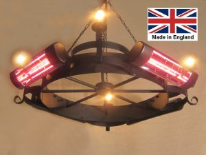 Chandelier Heater 8kW 'Willoughby' Design with Vintage Lamps