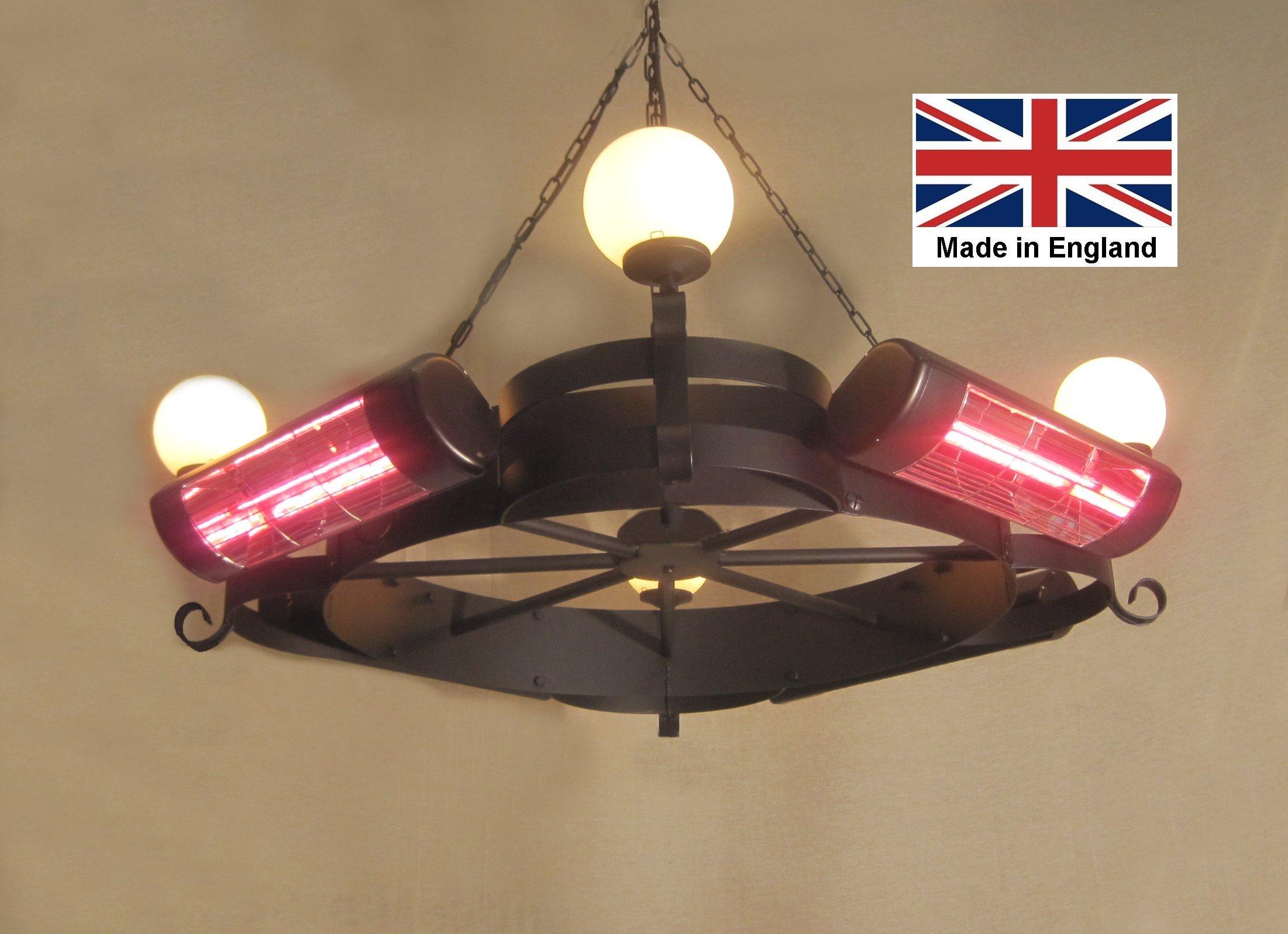 Chandelier Heater 6kW 'Willoughby' Design