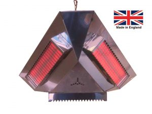 3000W/1500W 3-sided Infra-red Pendant Gazebo Heater