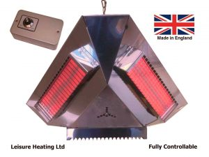3000W Infra-red Pendant Heater with Variable Controller
