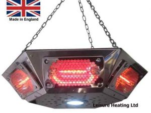 ALL NEW! 3000W Short-wave Infra-red Pendant Gazebo Heater with LED Light