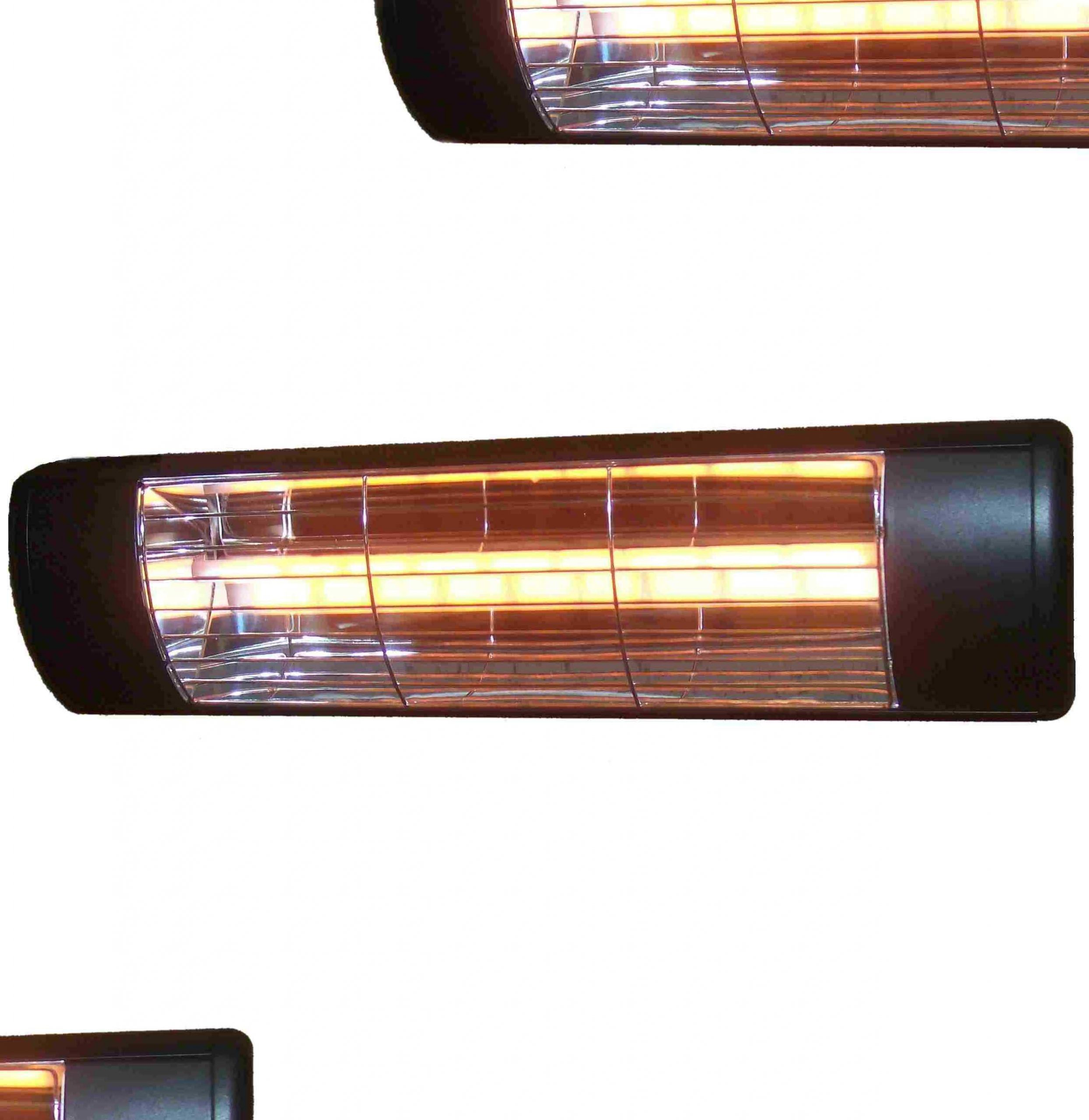 1.5kW Summerglow Heater - Black with gold element