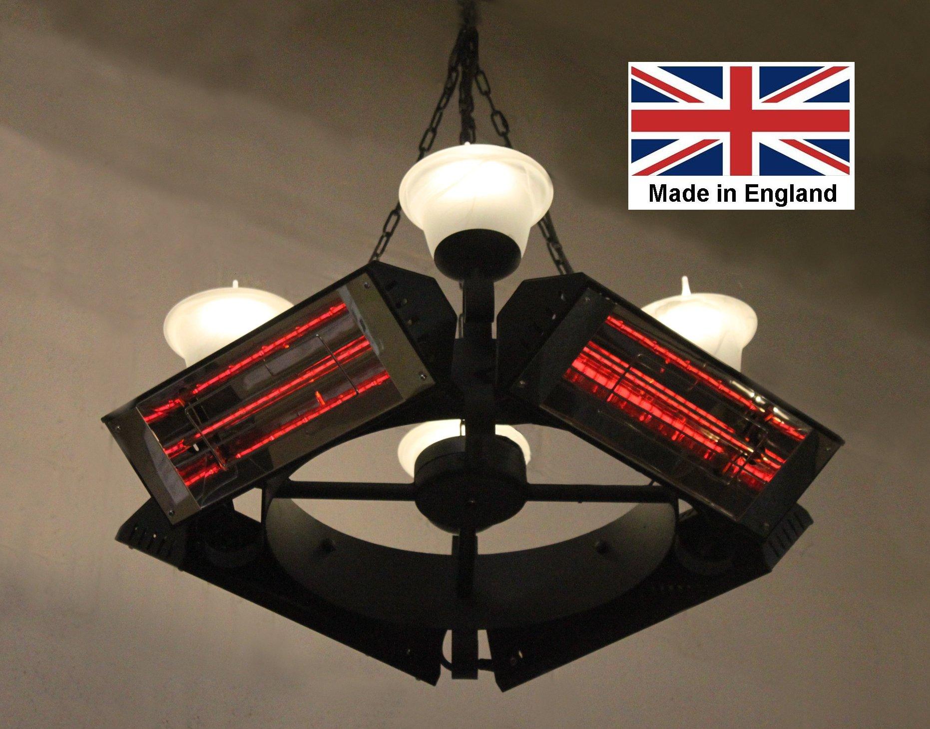 Compact Chandelier Heater 6kW 'Walton' Design