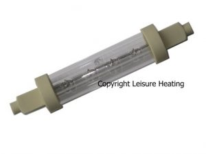 200W Genuine Victory Food-safe Jacketed Catering Lamp 119mm R7s