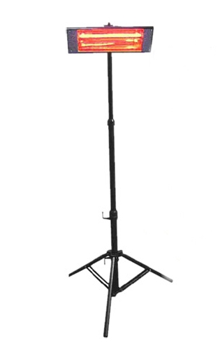 Portable 1.5kW Quartz Infra Red Warehouse Heater and Tripod