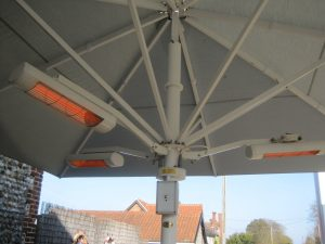 Summerglow 4.5kW Commercial Infra-red Parasol Heating System