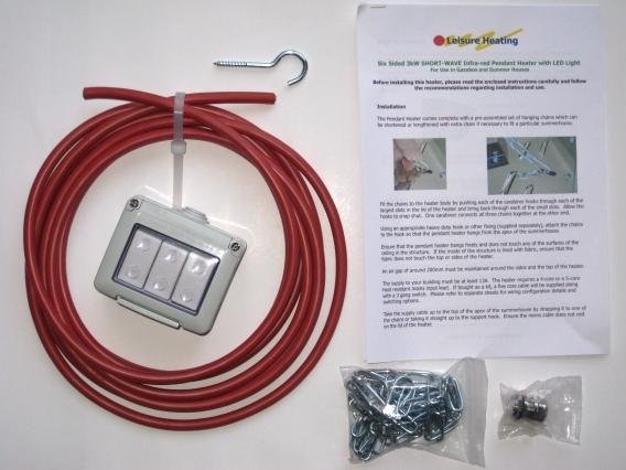 Pendant heater installation kit