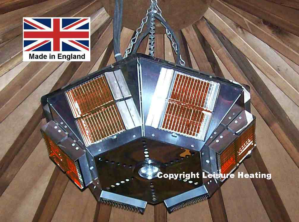 6kW/3kW Infra-red Pendant Heater with Down-light