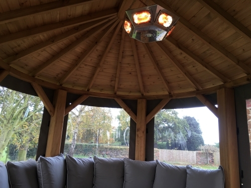 Pendant Pavilion Heater Installed