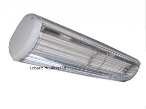 2kW Ceramic Summerglow Infra-red Heater - White with No-Glow Lamp