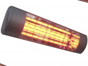 1.5kW Summerglow Heater - Silver with 'softglow' lamp