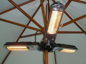 2kW Electric Medium-wave Infra-red Domestic Parasol Heater